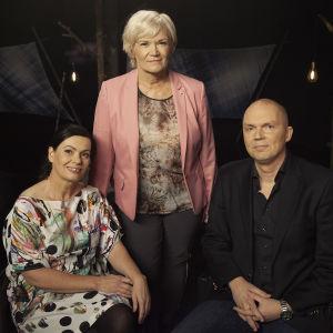 Satu Vasantola, Anne Flinkkilä ja Markku Mantila Flinkkilä & Tastula -ohjelman studiossa