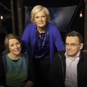 Raija Andersén, Anne Flinkkilä ja Teuvo Määttä