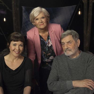Julia Korkman, Anne Flinkkilä ja Claes Andersson