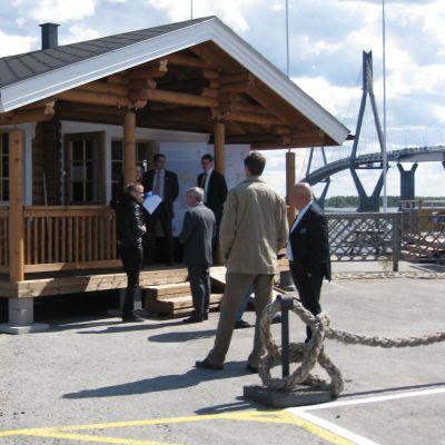 Invigning av Havets hus infopunkt
