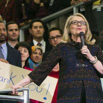 USA:s avgående utrikesminister Hillary Clinton