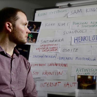 Toimittaja Sam Kingsley antoi luvan tietojensa kaivamiseen