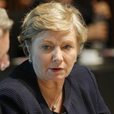 Irlands vice premiärminister Frances Fitzgerald på ett EU-möte i Luxemburg sommaren 2015 då hon var justitieminister.