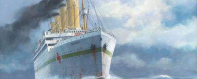 HMHS Britannic till sjöss.