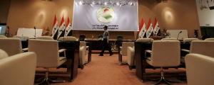 Plenisalen i irakiska parlamentet.