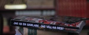 Ryggen på boken Jag är en samlare, jag vill ha mer av Aja Lund.
