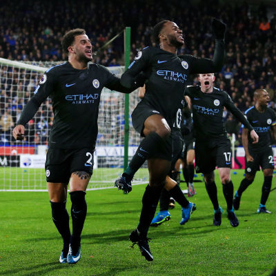 Raheem Sterling firar ett mål