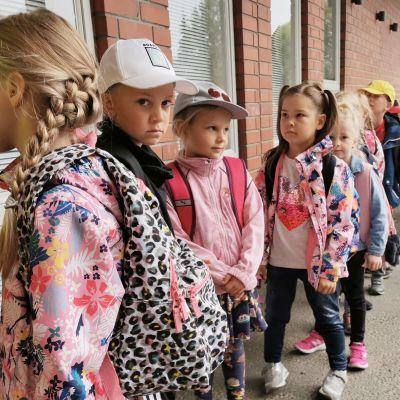 Ekaluokka alkoi Metsäkylän koulussa.