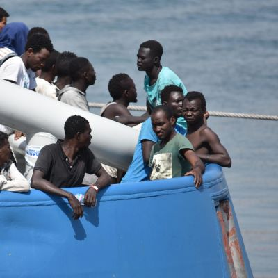 Flyktingar i Italien.