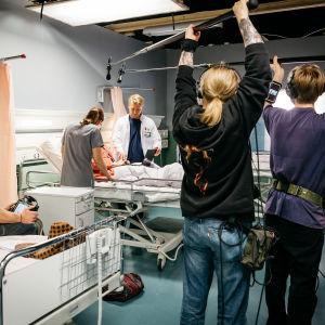 Inspelning av Yles dramaserie Puls.