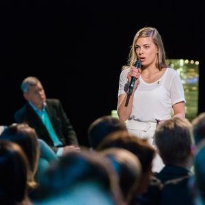 Pia Henrietta Kekäläinen speaking at Yle Prophecy.