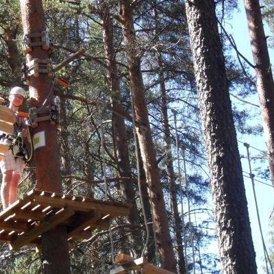 Kontiolahtelainen Rico Skarp uskaltautui kiipeämään korkealle.