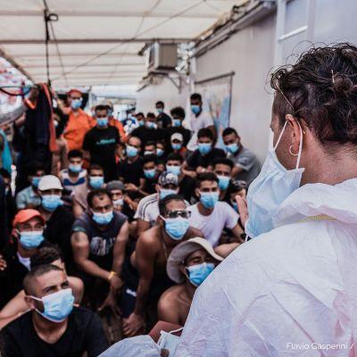 Italian lääkärit Ocean Viking -aluksella 4.7.2020