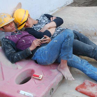 Arbetare i kina.