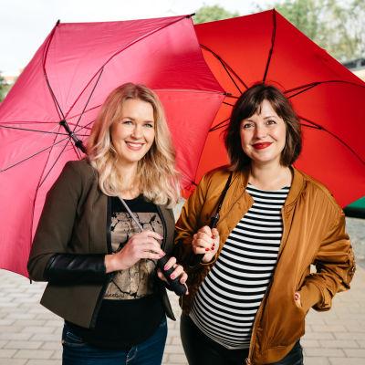 Hannah Norrena och Eva Frantz.
