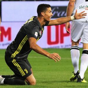 Cristiano Ronaldo i Juventus-tröjan.