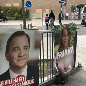 Valaffischer med Stefan Löfven och Annie Lööf.