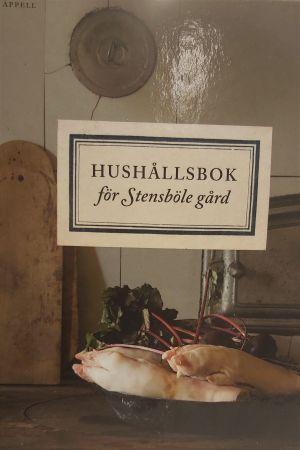 Pärm till bok om hushållning på en 1700-tals herrgård.