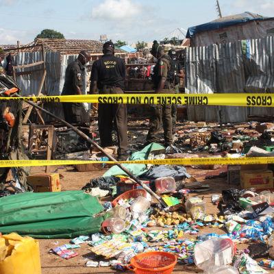 Bombdåd i Abuja Nigeria 3 oktober 2015.