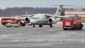 Ett plan av typen AN-148 nödlandade på Pulkovo flygplatsen i Sankt Petersburg år 2012