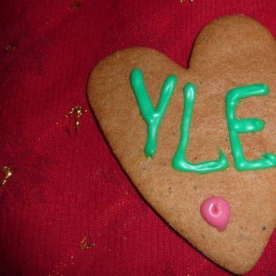 En pepparkaka med YLE på
