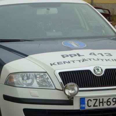 Österbottens polisinrättnings polisbil.