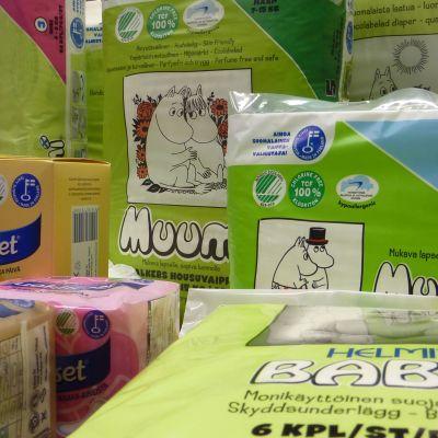 Blöj- och bindtillverkaren Delipaps produkter