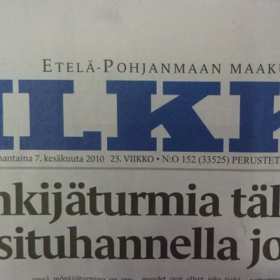 Södra Österbottens regiontidning Ilkka.