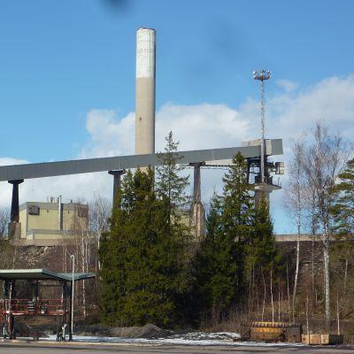 Fortums kolkraftverk i Ingå som stängts.