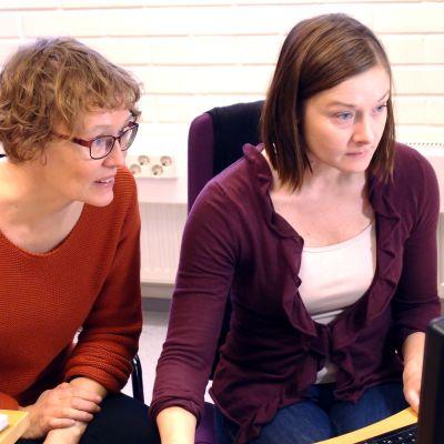 Annvi Gardberg och Jonna Nupponen, redaktörer på Spotlight.