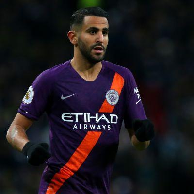 Manchester Cityn  Riyad Mahrez.