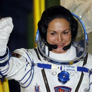 Den ryska kosmonauten Jelena Serova