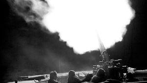 Ilmatorjuntaa Helsingin Taivaskalliossa 23.11.1942.