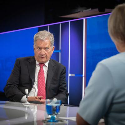 Presidentti Sauli Niinistö Ykkösaamun vieraana 28 elokuuta.