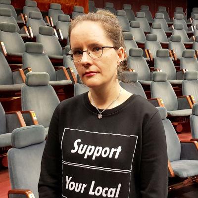 Kuusankosken teatterin johtaja Karoliina Eklund-Vuorela