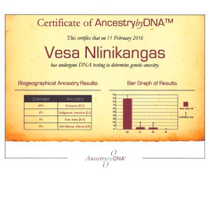 DNA-testiraportti, Ancestry by DNA