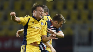 Mika Väyrynen i HJK:s tröja i Champions League-kvalet mot FK Rabotnicki.