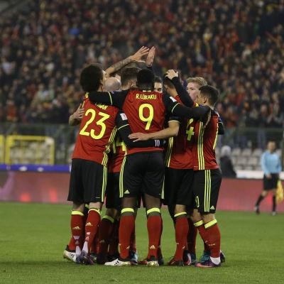 Belgien krossade Estland med 8-1.