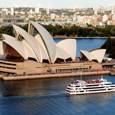 Hamnen i Sydney Australien.
