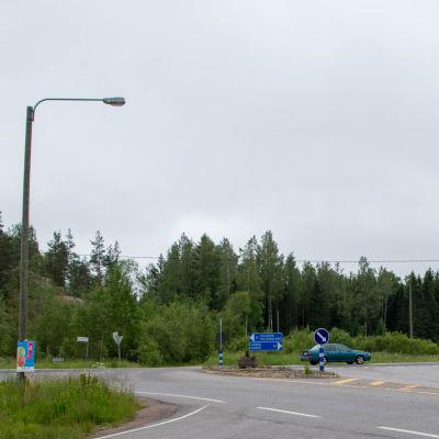 Korsningen, sjundåvägen och stamväg 51