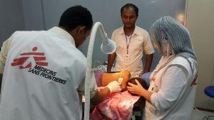 Barn vårdas på sjukhus i Abs.