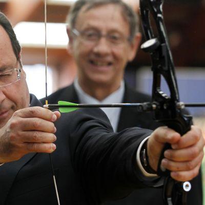 Hollande träffade franska OS-teamet i bågskytte 16.07.2012