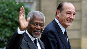 Kofi Annan och Jacques Chirac