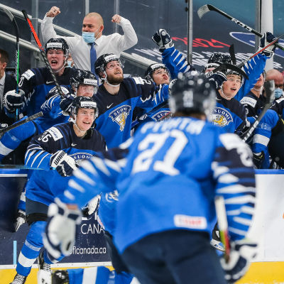 Finland jublar i JVM 2020.