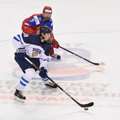 Kristian Vesalainen i elden vid U18 VM 2017.