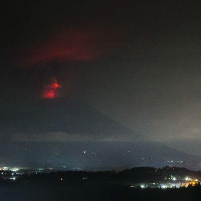 Vulkanen Agungs utbrott.