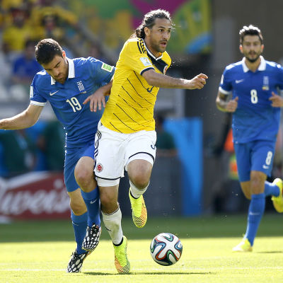 Mario Yepes, Colombia spelar mot Grekland i fotbolls-VM 2014