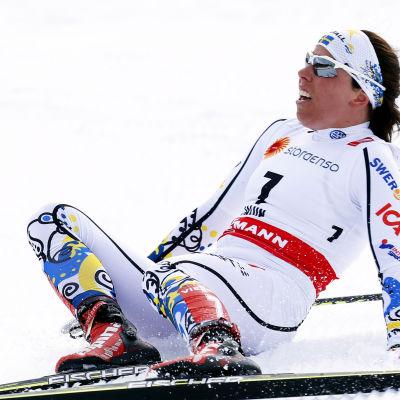 Charlotte Kalla under Falun-VM 2015