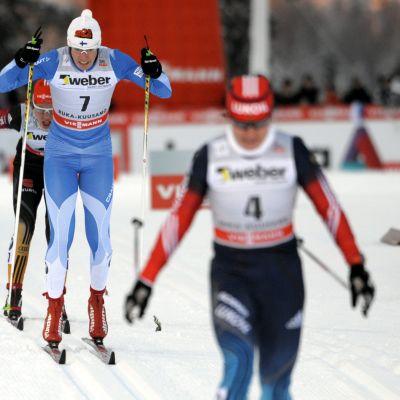 Sprinttävlingar i Kuusamo 2013.