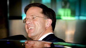 Mark Rutte efter segern i valet.